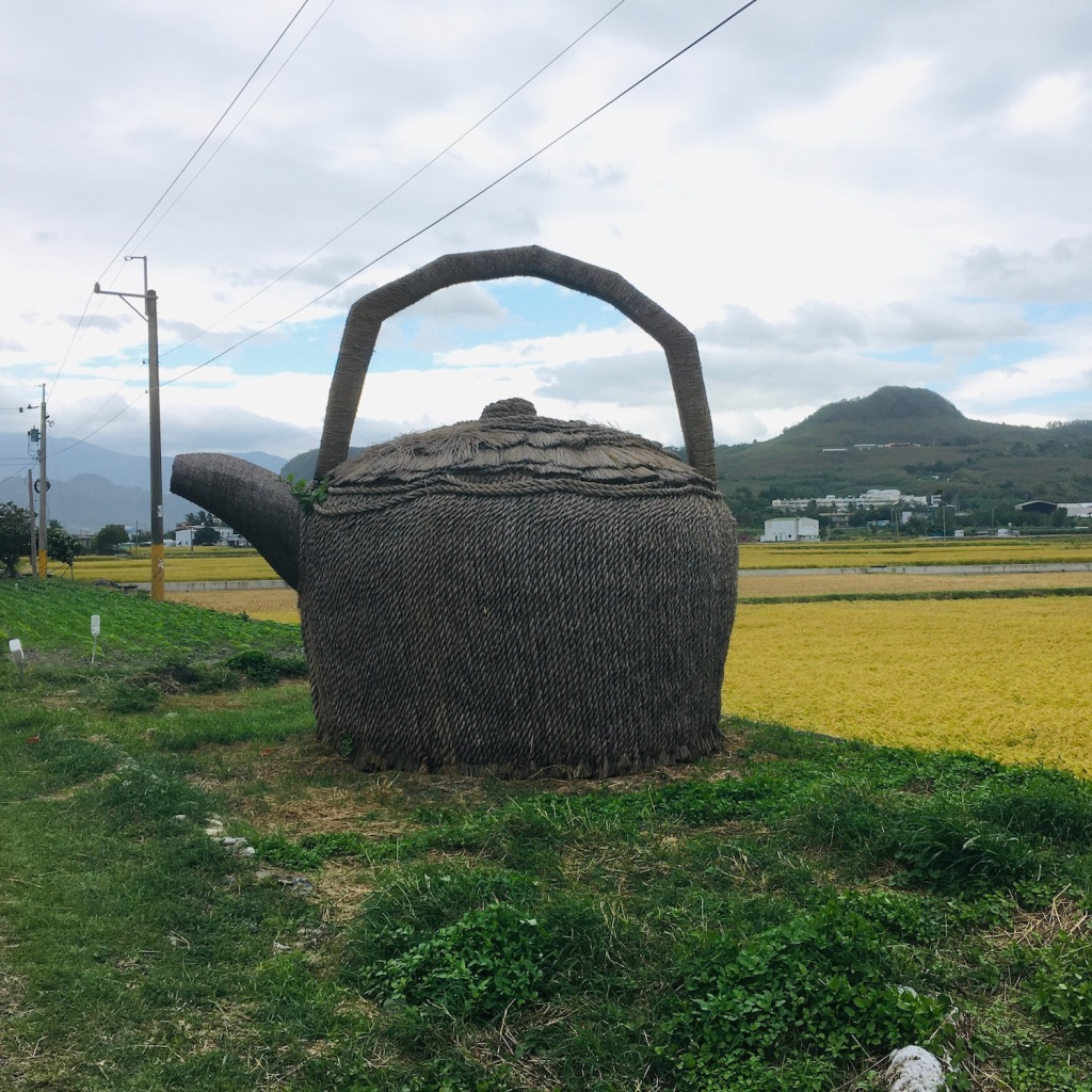 yep, a giant kettle hut made from stalks