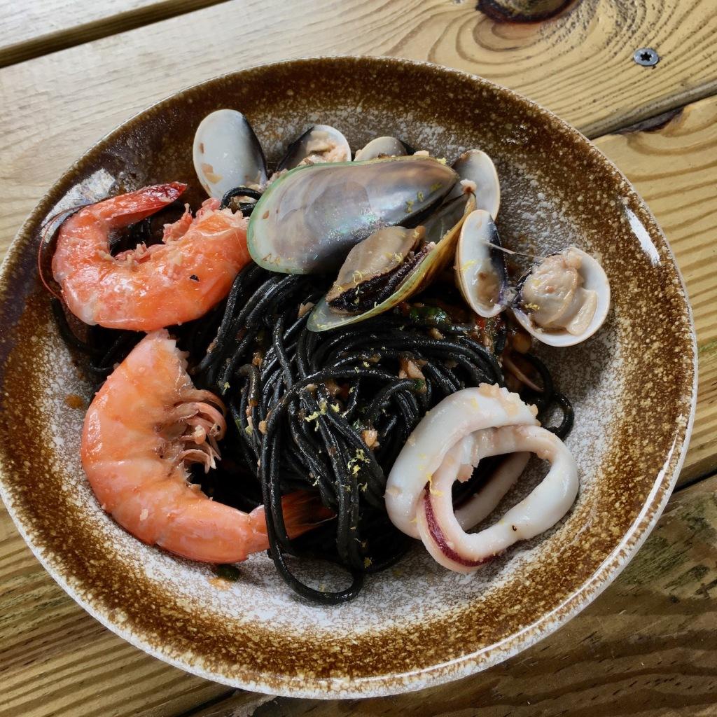 Cape Cafe - squid ink pasta